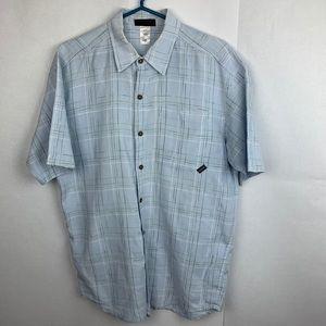 PATAGONIA Men Short Sleeve Shirt Blue Plaid size M